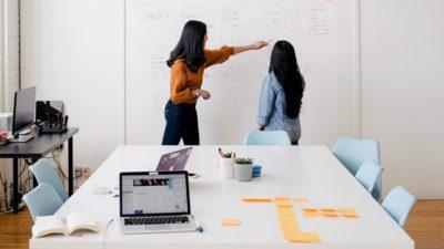 Women in Meeting Room